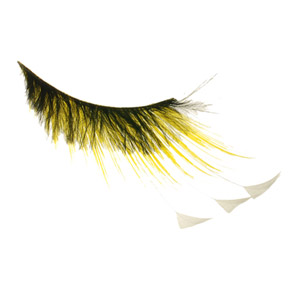 Yellow With White Feather Tip